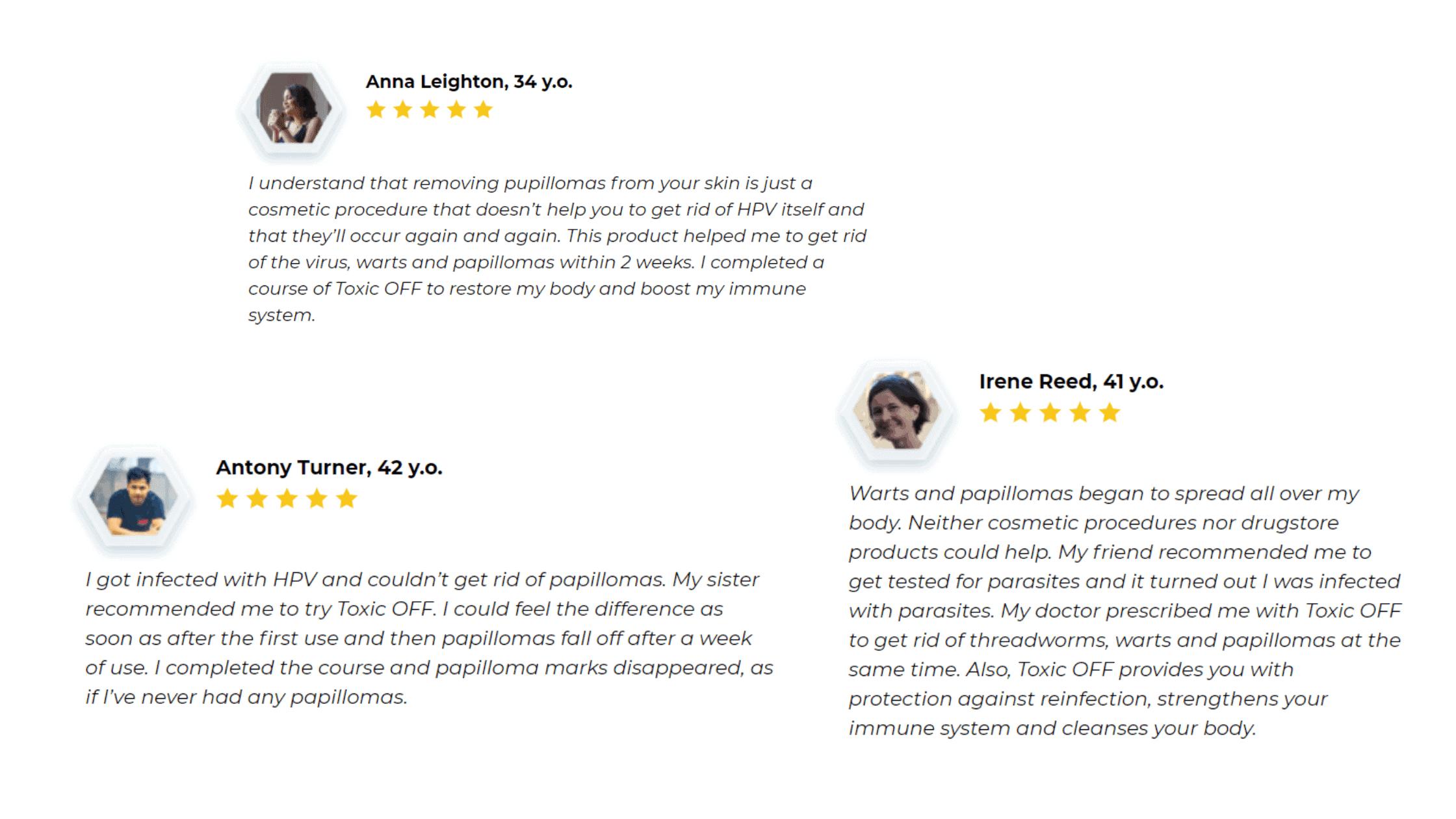 Toxic OFF customer reviews