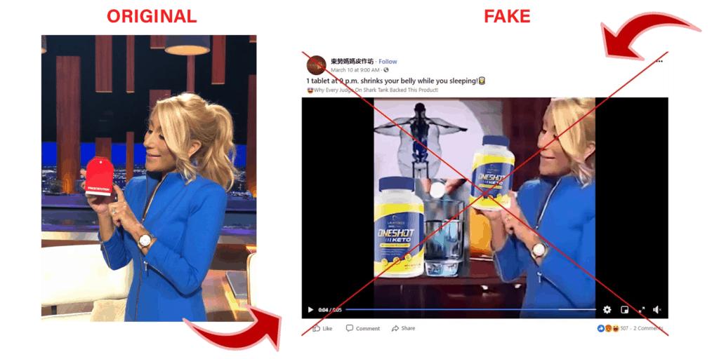 one shot keto fake promotional