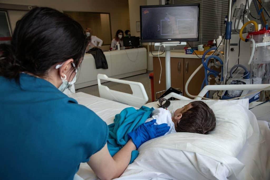 U.S. Reports Record COVID Hospitalizations Of Children