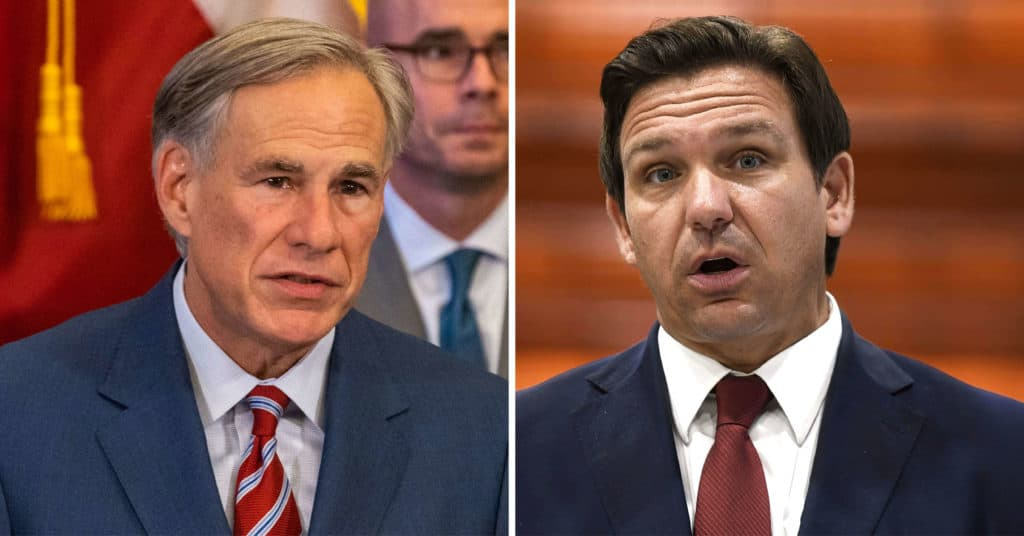 Mask Mandate Bans From Abbott And DeSantis Face Legal Obstacles In The Courts Of Law