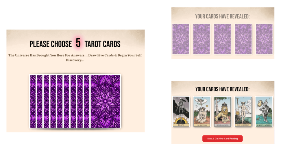 Lucy Tarot Card Reading - Step 1