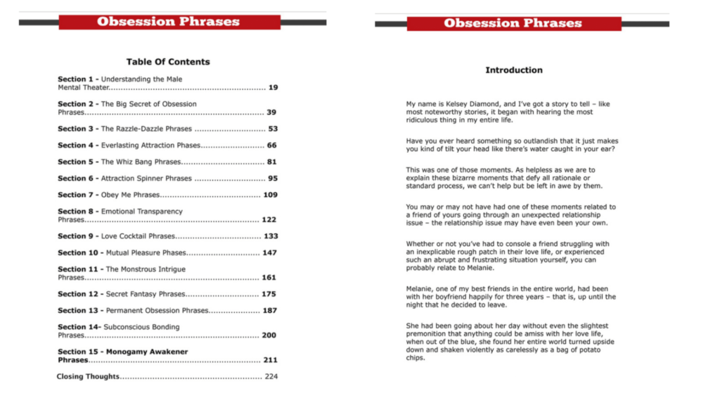 Obsession Phrases - Content