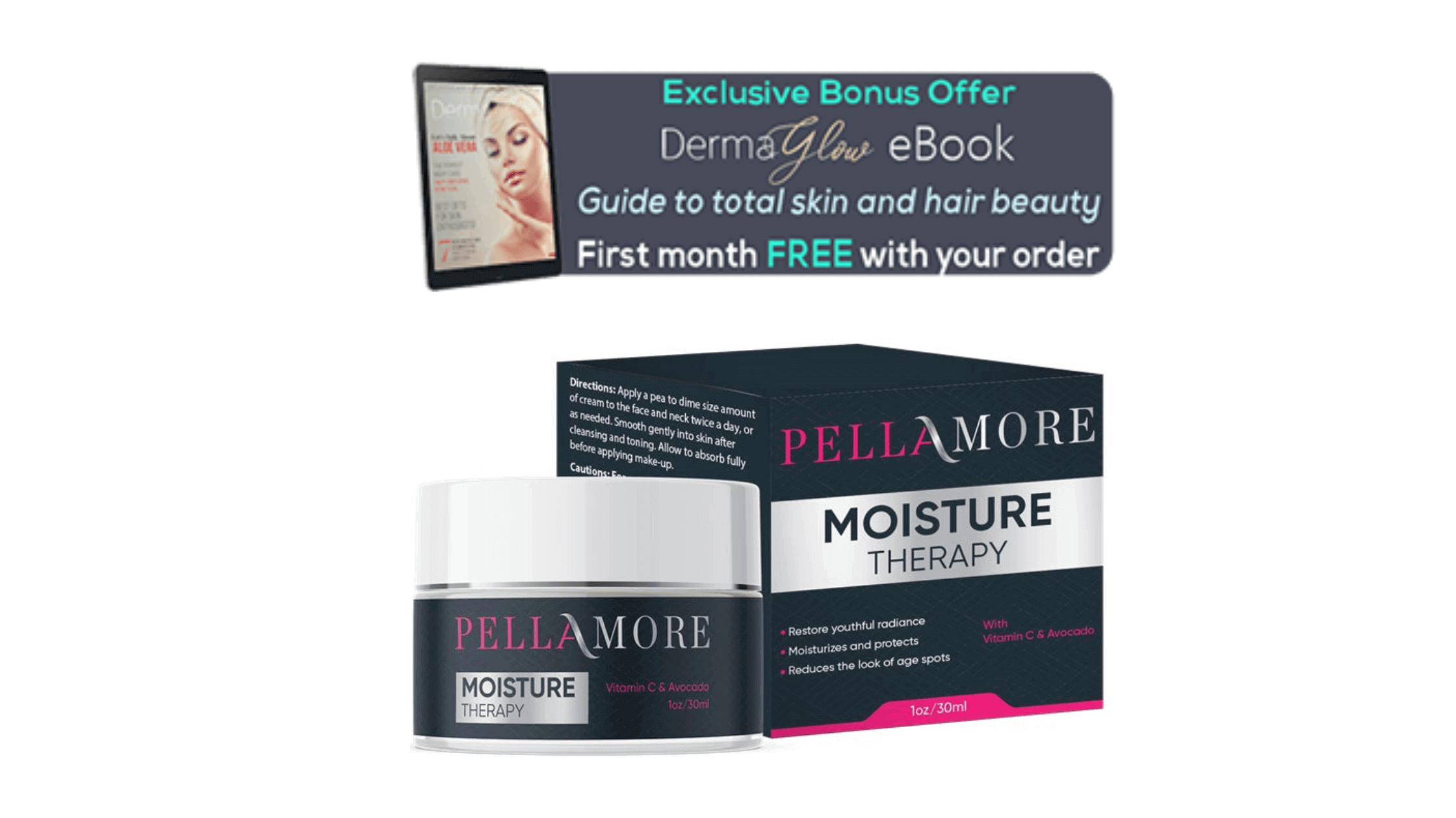 Pellamore Moisture Therapy Bonus-DermaGlow eBook