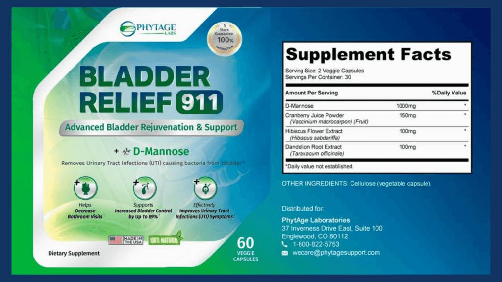 Bladder Relief 911 Dosage