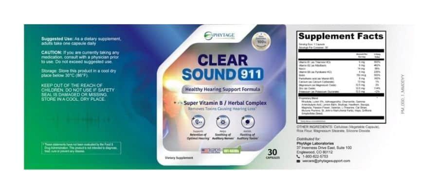 Clear Sound 911 Dosage