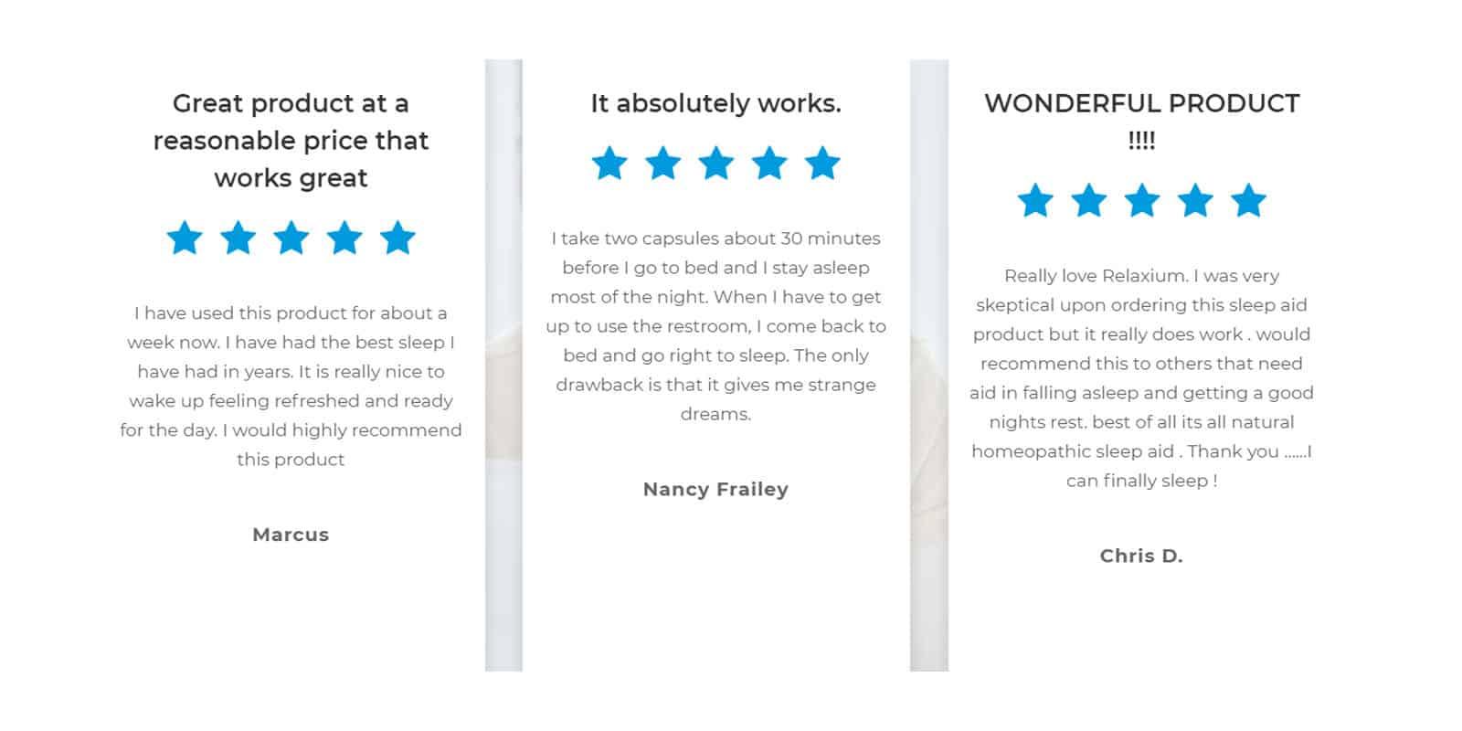 Relaxium Sleep Customer Reviews
